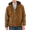 CARHARTT SANDSTONE ACTIVE JAC / QUILTED FLANNEL LINED