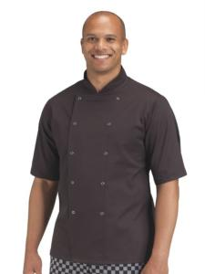 BLACK DENNYS AFD SHORT SLEEVE BUDGET CHEF'S JACKET